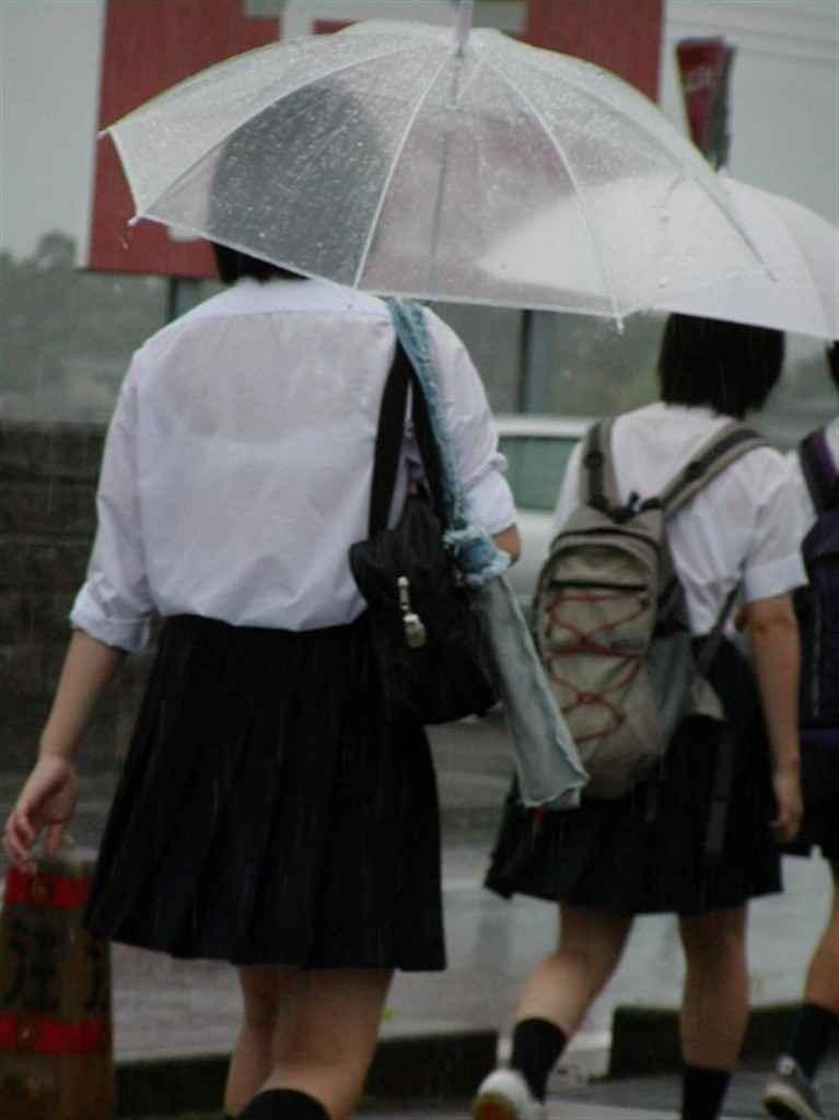 雨の日のJK街撮り10