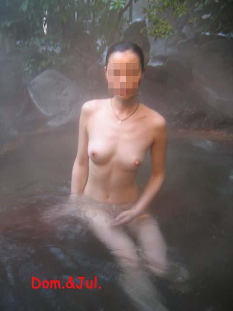 混浴露天風呂の素人エロ画像04