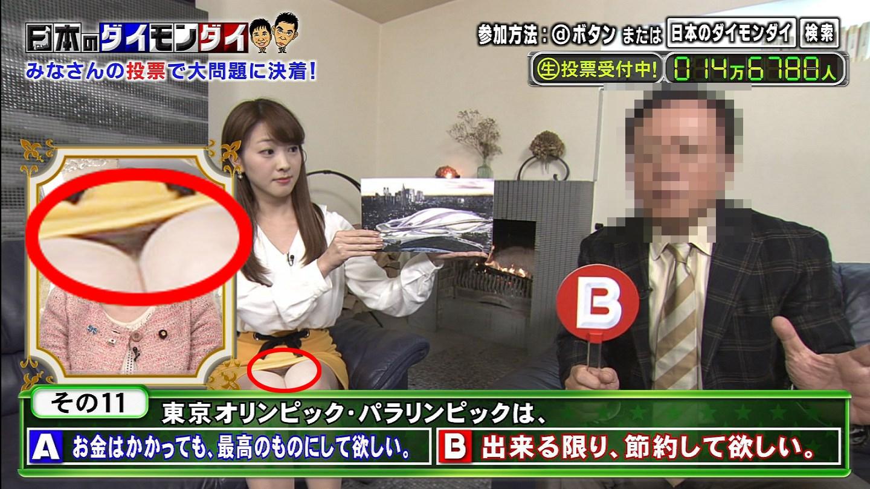 テレビに写った胸チラパンチラエロキャプ画像1447001084307