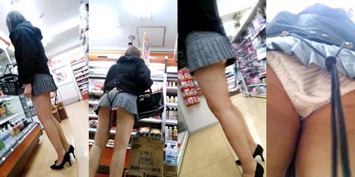 買い物中の女性の店内盗撮素人エロ画像21