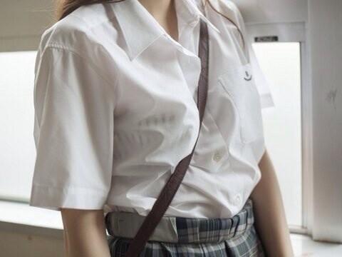 女子校生の透けブラ街撮りエロ画像012