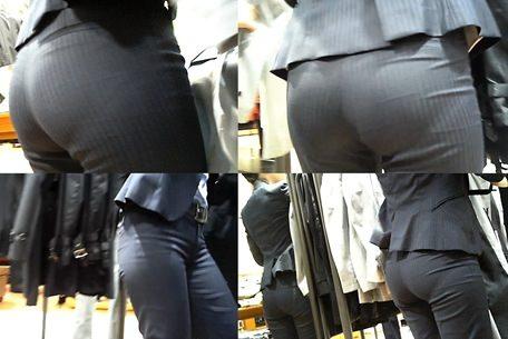 パンツスーツのエッチなお尻街撮り4
