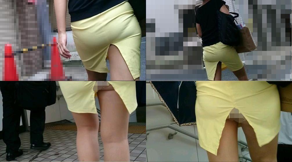 タイトミニスカートのお尻がエッチな素人エロ画像-14
