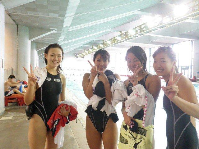 JK水泳部の競泳水着姿-2