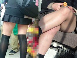 ムチムチ感がエッチな女子高生の生脚太もも23