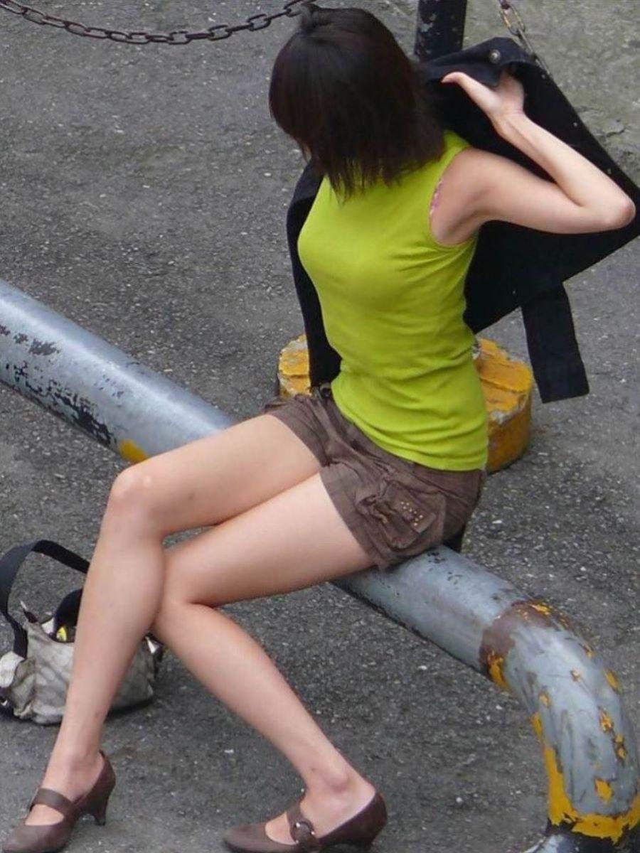 ノースリーブを着た女子の素人エロ画像-017