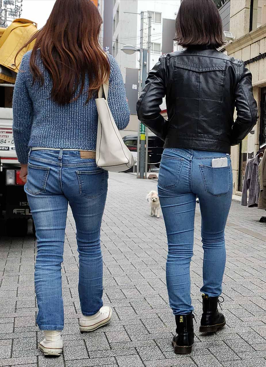 デニムのお尻がセクシーすぎる女子の街撮り素人エロ画像-015