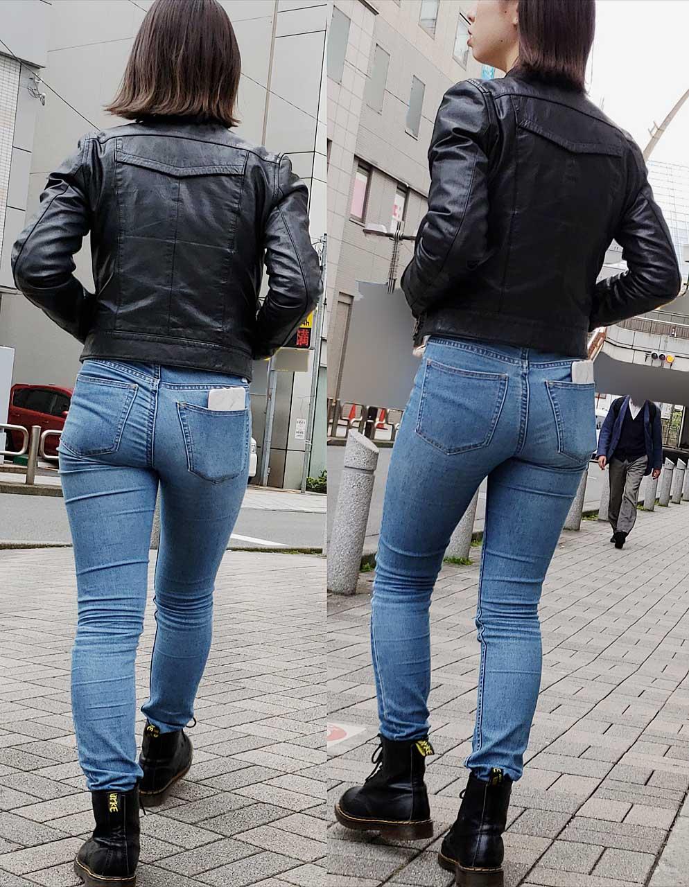 デニムのお尻がセクシーすぎる女子の街撮り素人エロ画像-017