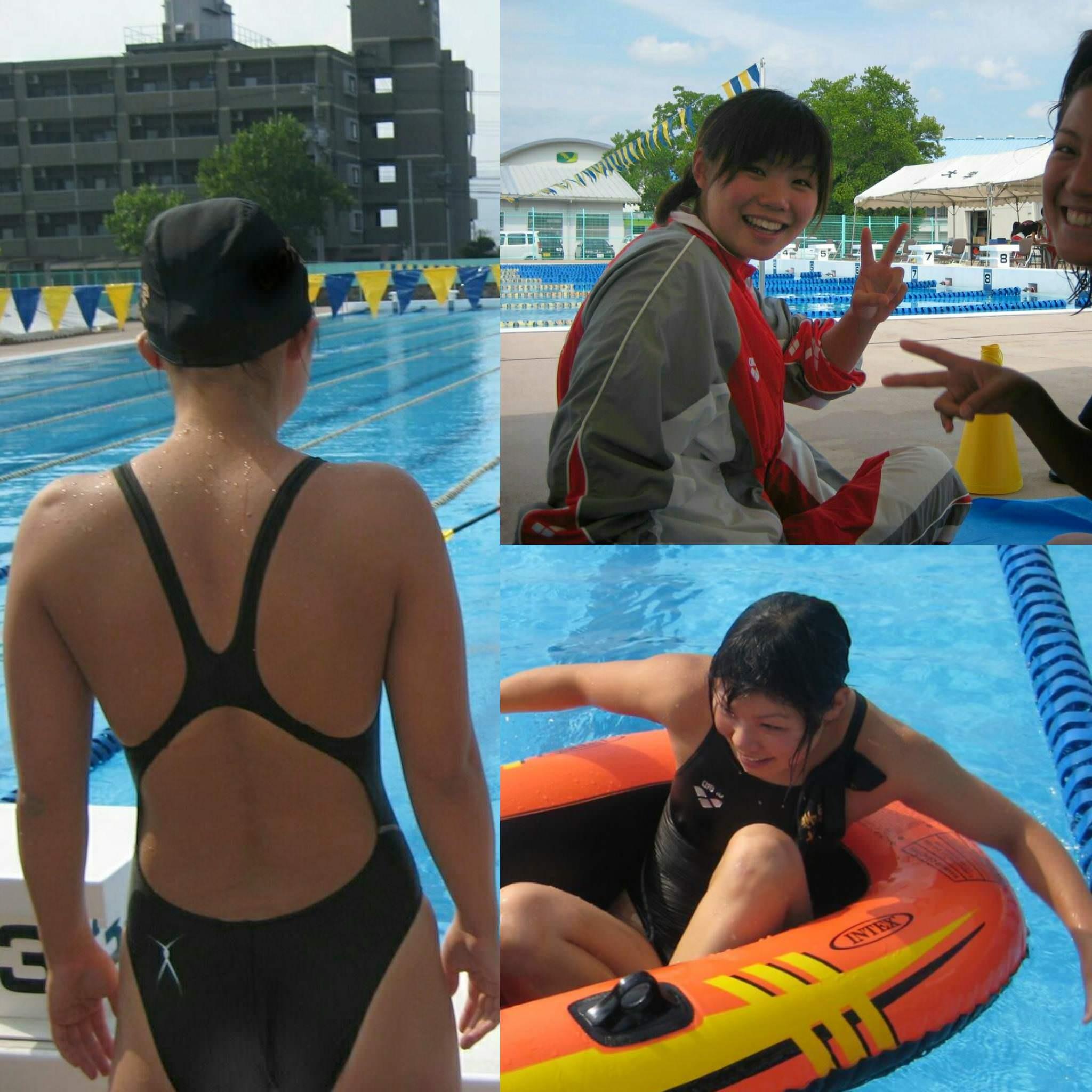 競泳水着の素人エロ画像-392