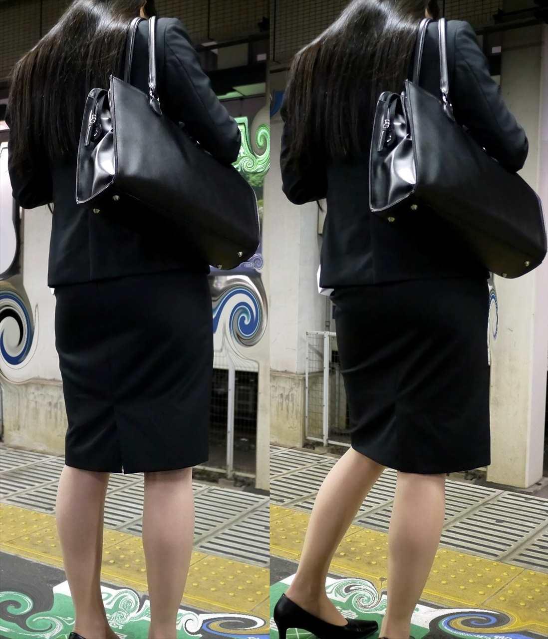 スカート女子の街撮り素人エロ画像-040