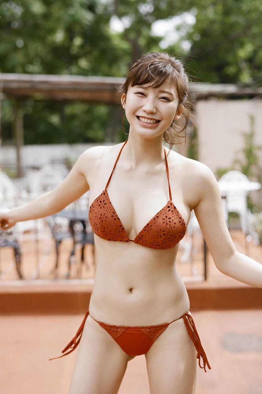 水着姿の女子の素人エロ画像-036