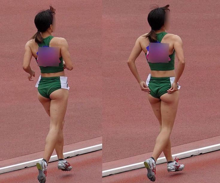 陸上女子選手の素人エロ画像-080