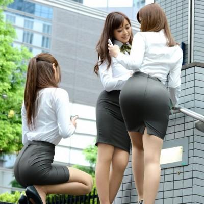 タイトスカート、ピタピタパンツのスーツ女子エロ画像97-04