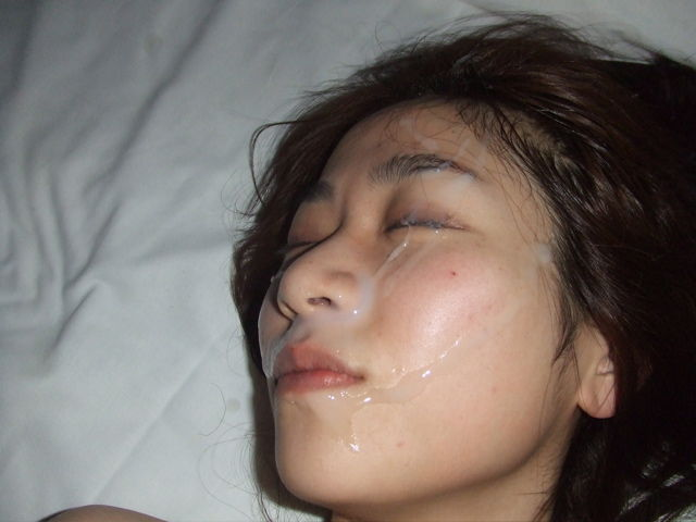 顔射の素人エロ画像3