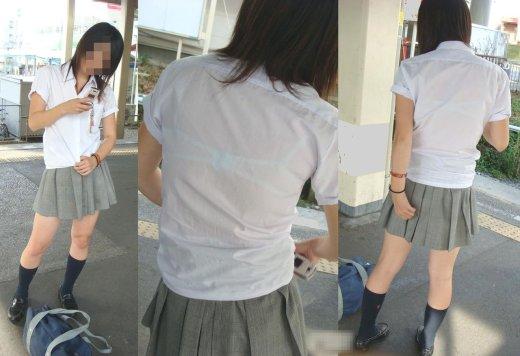 女子校生の透けブラ街撮りエロ画像033