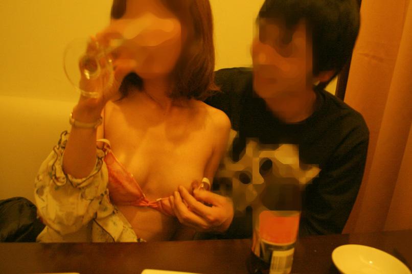 飲み会の素人エロ画像4