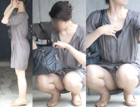 若ママの無防備な下半身の盗撮エロ画像8