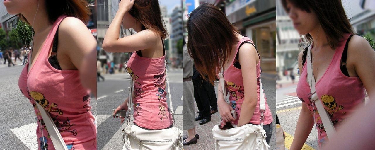 街撮り着衣巨乳素人エロ画像15