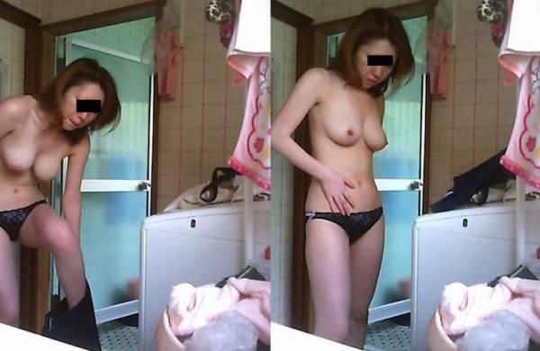 お風呂前の脱衣隠し撮り家庭内盗撮素人エロ画像21