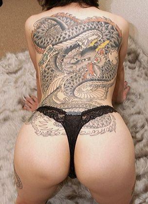 タトゥーの素人エロ画像12