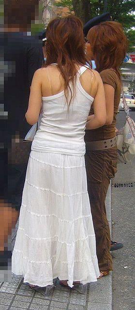 マキシワンピ女子の街撮り素人エロ画像20