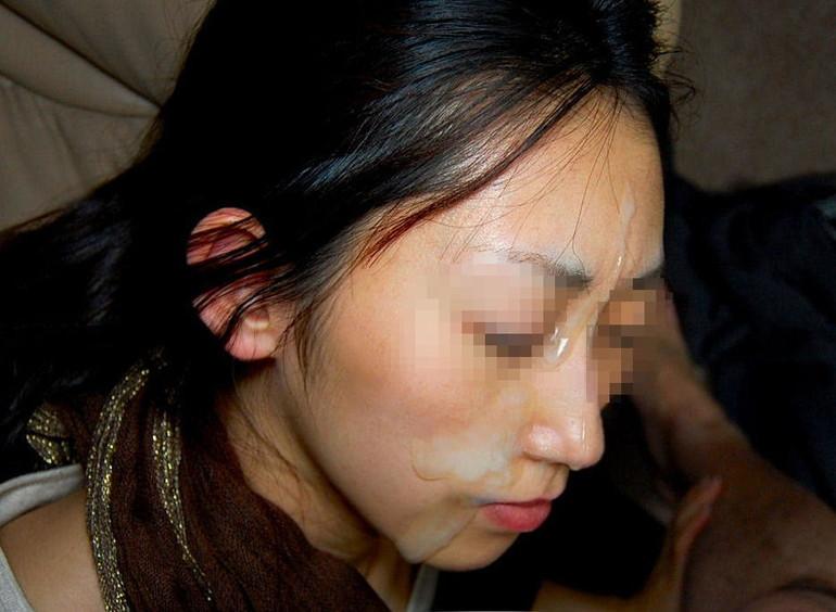 熟女顔射の素人エロ画像2