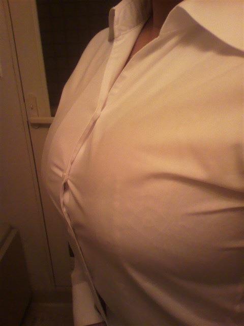白シャツ着衣おっぱいの胸フェチエロ画像13