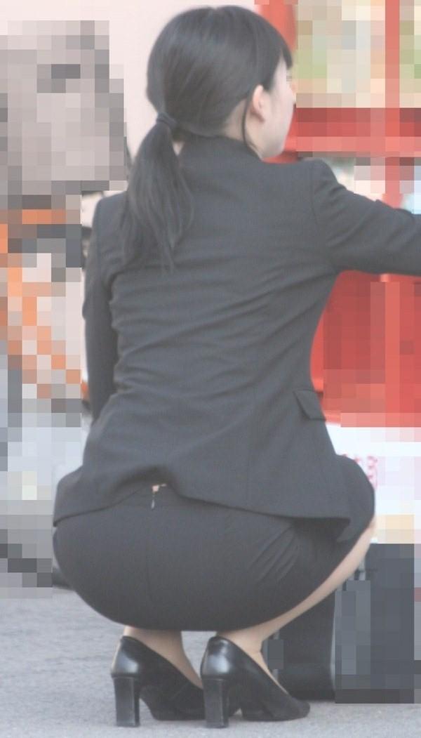 OLさんや就活女子のタイトスカートお尻を街撮りした素人エロ画像-162