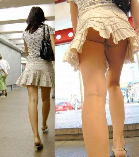 パンチラ街撮り素人エロ画像11